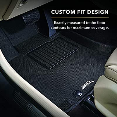 3D MAXpider Third Row Custom Fit All-Weather Floor Mat for Select Tesla Model X Models - Kagu Rubber (Gray): Automotive