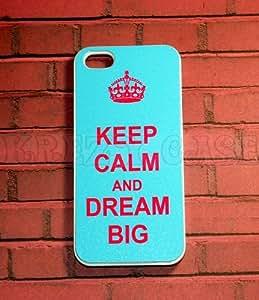 iPhone 6 Plus case, iPhone 6 Plus Case, Keep Calm and Dream Big Pink color font iPhone 6 Plus Cover, iPhone 6 Plus 5.5 inch case, iPhone 6 Plus Case, Cute iPhone 6 Plus Case
