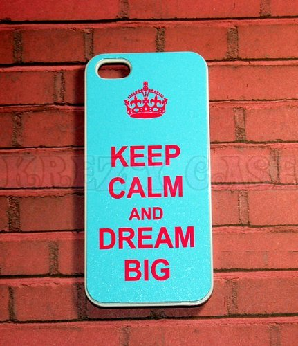Krezy Case iPhone 6 case, iPhone 6 Case, Keep Calm and Dream Big Pink color font iPhone 6 Cover, iPhone 6 Cases...