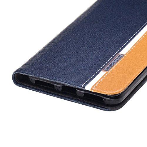 Funda Xiaomi Redmi Note 4 ,Carcasas Xiaomi Note 4 piel Funda con Tapa Rosa Schleife® Redmi Note 4 Carcasa Cuero Funda Protectora Case Cover Slim Folio Cartera Billetera Carcasas y Fundas Caja movil Ca Azul