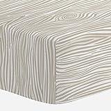 Carousel Designs Taupe Woodgrain Crib Sheet - Organic 100% Cotton Fitted Crib Sheet - Made in The USA