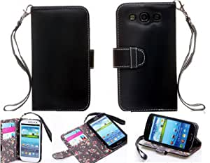 Samsung S3 Case,Samsung Galaxy s3 cases,Galaxy s3 case, Galaxy s3 cases,,Gotida S30530A006 Samsung Galaxy S3 Deluxe Book Style Folio Wallet Leather Case with Money Pocket & Removable Strap For Samsung Galaxy S3 i9300, I747, L710, T999,i535 - AT&T, T Mobile, Sprint, Verizon,Samsung S3 Case