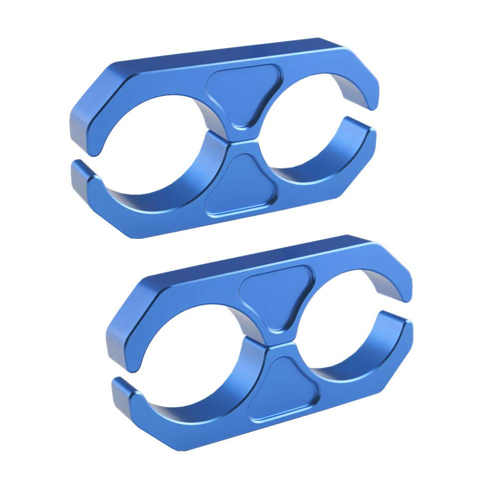DEWHEL Universal Billet T6 Aluminum Coilover Reservoir Bracket Shock Reservoir Mount Brackets Blue