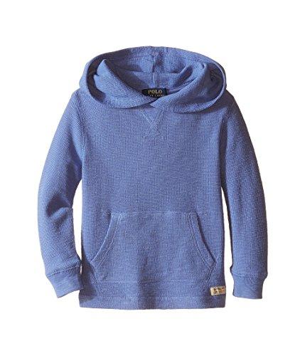 Polo Ralph Lauren Little Boys' Slub Hoodie Sweater (6 Little Kids, Blue Water)