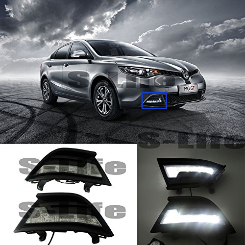 [해외]White LED DRL Daytime Running Light Frame Fog Light For MG GT 2014-2015 6000K / White LED DRL Daytime Running Light Frame Fog Light For MG GT 2014-2015 6000K