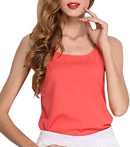 Lavany Womens Plaid Irregular Hem Tank Top Back Lace Panel Casual Blouse for Women