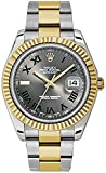 Rolex Datejust Automatic 18kt Gold Bezel Mens Watch 116333