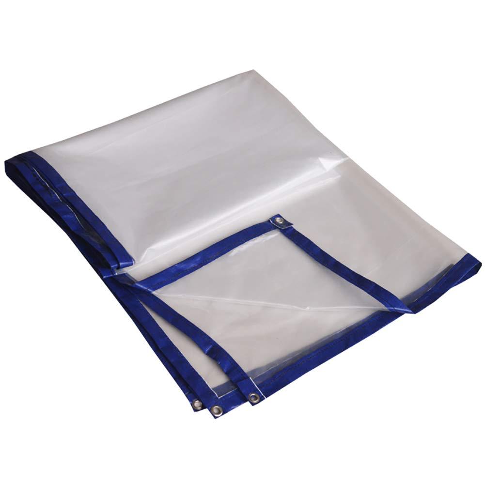 Im Freien Transparente Plane der harten Beanspruchung Wasserdichte Plane aufgefüllte regendichte Plane (Farbe   A, größe   6×8m)