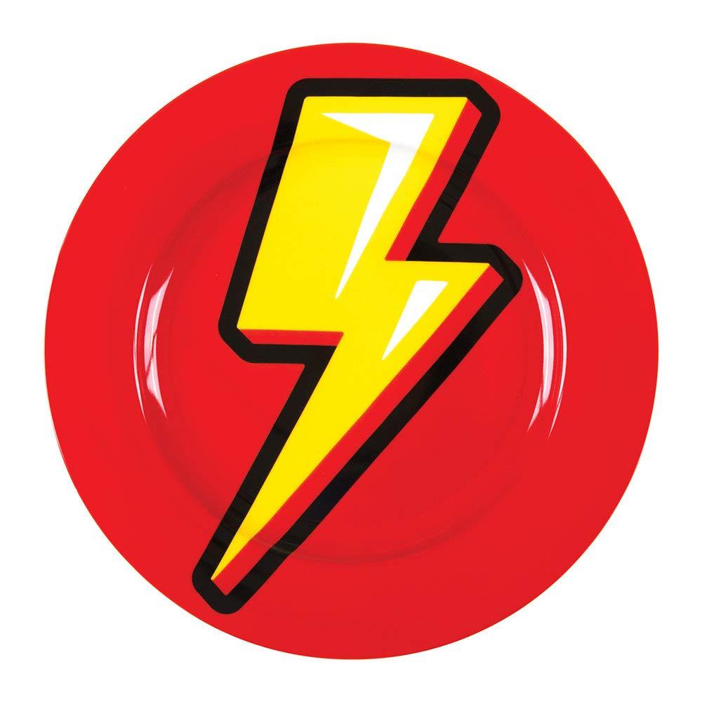 Seletti Blow Flash piatto piano diam.27 cm con decoro fulmine 17203