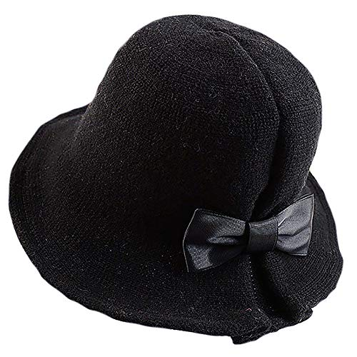 YSense Winter Foldable Wool Blend Cloche Bucket Hat