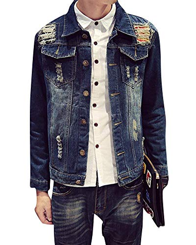 Taglie Manica Coat 02pd Leisure Capispalla Comode Hx Slim Fashion E Lunga Denim Jacket Abiti Uomo Outwear wPxqnI0B4f