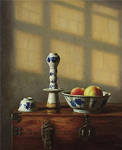 Oil Painting 'Bowl With Fruits' Printing On High Quality Polyster Canvas , (Beaded Pearl Fruit Bowl)