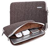 Kayond Herringbone Woollen Water-resistant 17 Inch Laptop Sleeve Case Bag (17 Inches, Gray)