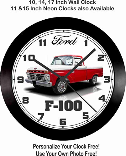Jim's Classic Clocks 1966 Ford F-100 Pickup Truck Wall Clock-Free USA Ship!