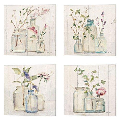 Blossoms on Birch by Cheri Blum, 4 Piece