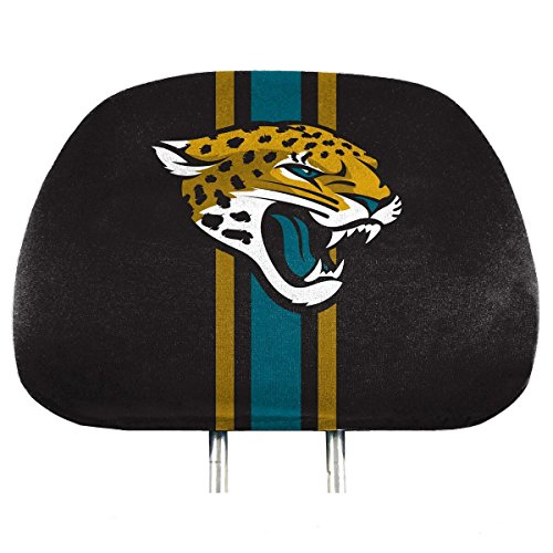 NFL Jacksonville Jaguars Full-Print Head Rest Covers, 2-Pack