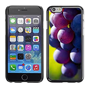 LASTONE PHONE CASE / Carcasa Funda Prima Delgada SLIM Casa Carcasa Funda Case Bandera Cover Armor Shell para Apple Iphone 6 / Fruit Macro Dark Grape