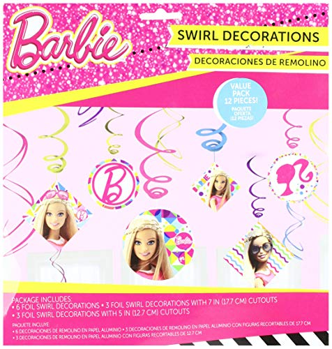 Foil Swirl Decorations | Barbie Sparkle Collection | Party -