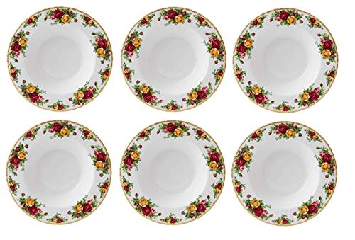 Royal Albert Old Country Roses Rim Set of 6 Soup Bowls #15210014 Country Roses Rim Soup Bowl