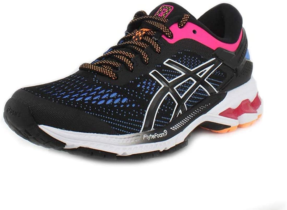 ASICS Womens Gel-Kayano 26 Running Shoes, 6M, Black/Blue Coast: Amazon.es: Zapatos y complementos