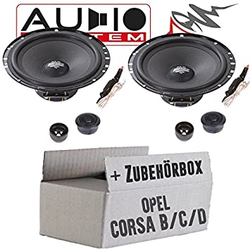 Einbauset f/ür Opel Corsa B//C//D Lautsprecher Boxen Mac-Audio Street 16cm 280Watt Auto Einbausatz JUST SOUND best choice for caraudio