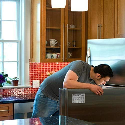 Magnetic Kitchen Conversion Chart - Professional Measurement Refrigerator Magnet in 18/8 Magnet Size - Liquid Conversion Chart 4