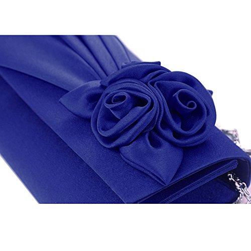 Gosear Fashion Rose Doblez del Bolso de Mano Para Partido Negro Azul