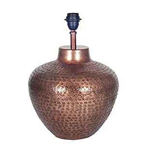 Antique Copper Hammered Pot Lamp Base 30-270-BO: Amazon.co.uk ...