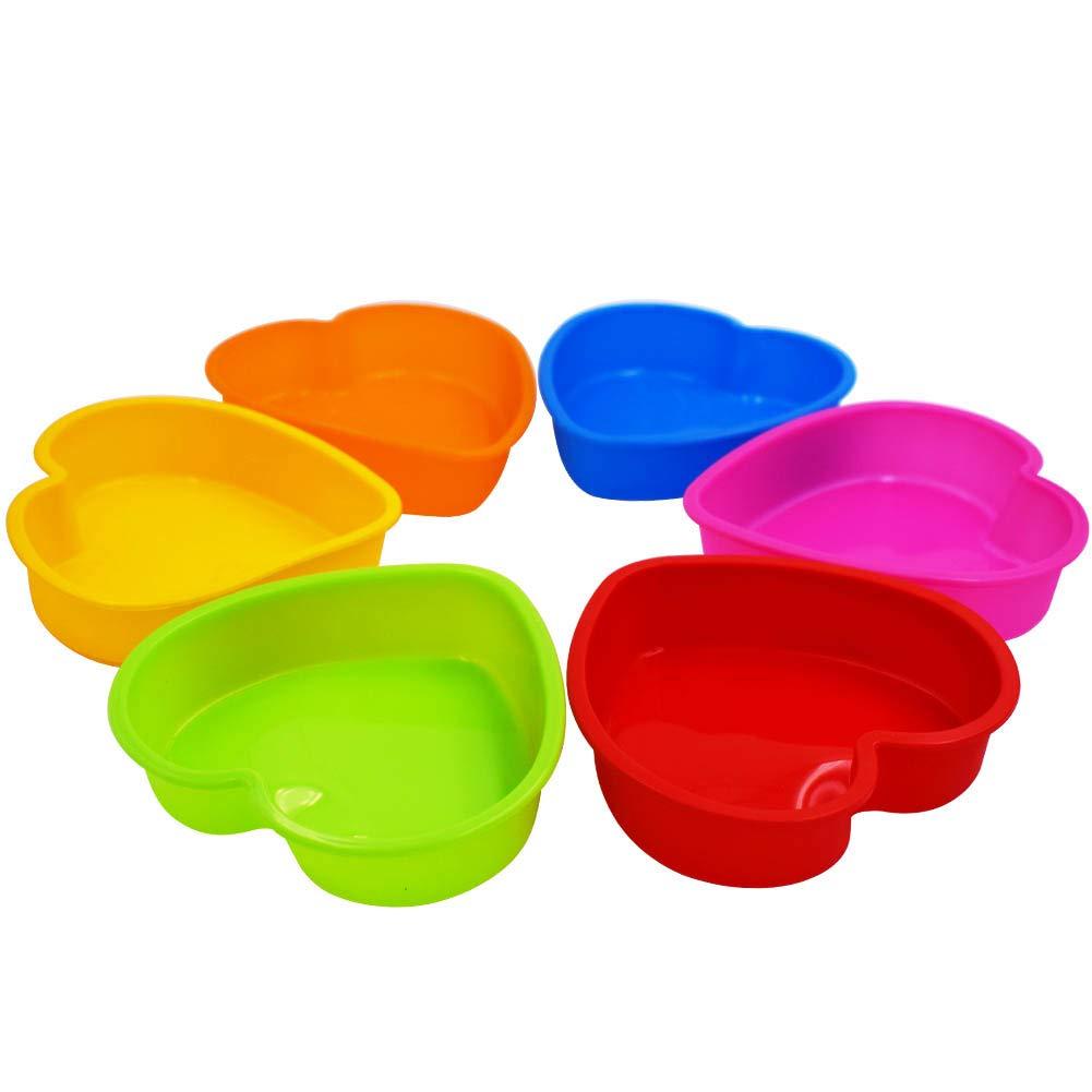 6 unidades tartas de frutas quicheformes Molde de silicona para tartas WENTS tartas