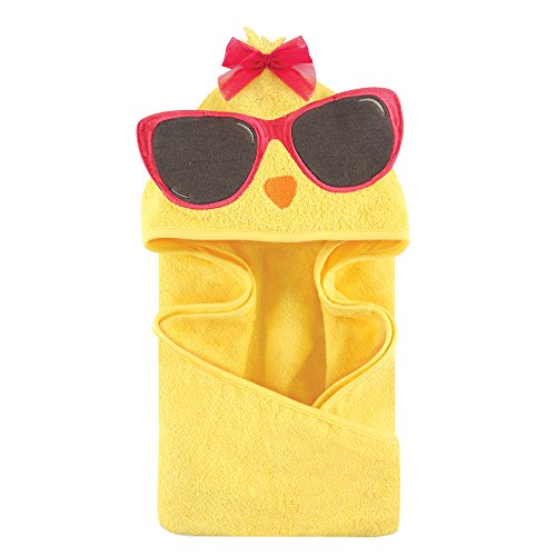 Hudson Baby Unisex Baby Animal Face Hooded Towel, Cool Chick 1-Pack, One Size