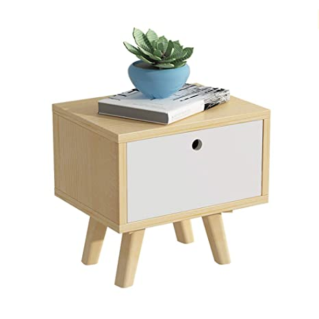 Amazon.com: Mesita de noche GJM Shop simple madera de pino ...