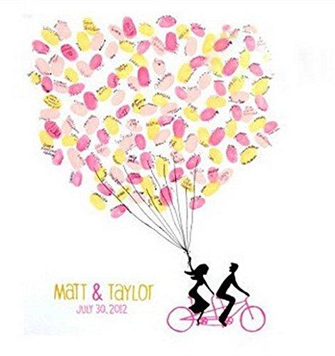 Fetoo Wedding tree Gästebuch Fingerabdruck Baum Hochzeit Unterzeichnung Baum inkl. eine Stempelkissen