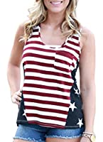 For G and PL Women's American Flag Tank Tops