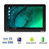 Yuntab B102 10.1 Inch Allwinner A64,1.3Ghz Quad Core Google Android 6.0 Tablet PC,1G+16G,HD 800x1280,Dual Camera,6000MAh Battery,WiFi,GPS,G-Sensor,Support SD/MMC/TF Card(Black)