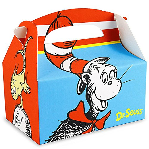 Dr Seuss Party Supplies - Empty Favor Boxes (4) (Cat In The Hat Thing 1)