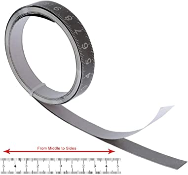 Self-Adhesive Stainless Steel Measure Tape Sticker Carpentry Workbench Tool