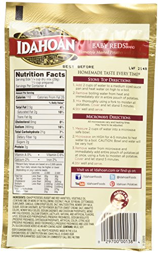 Amazon.com : Idahoan Baby Reds Flavored Mashed Potatoes - 2 of 4 Oz. : Grocery & Gourmet Food