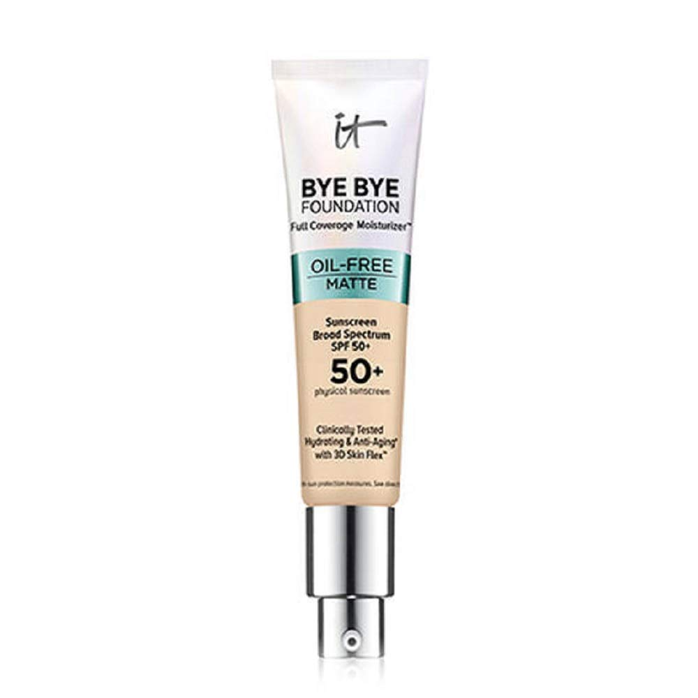 It Cosmetics Bye Bye Foundation Oil-Free Matte Full Coverage Moisturizer with SPF 50+ (Fair)