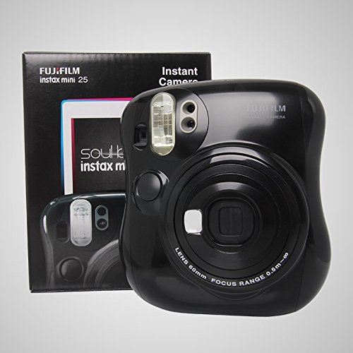 Fujifilm Instax MINI 25 Instant Film Camera, Black by Fujifilm