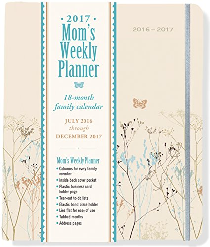 2017 Butterflies Mom's Weekly Planner (18-Month Family Calendar)