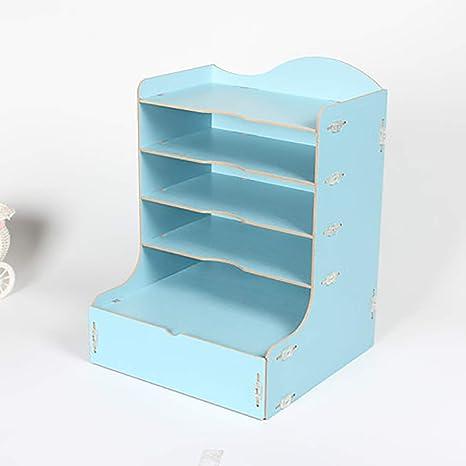 Archivadores con espiral Gabinete de archivos de escritorio de madera escritorio expreso de recibo único L
