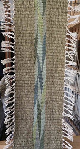 Handwoven Navajo Wedge Weave Wall Hanging in Shades of Green