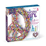 Craft-tastic – String Art Kit – Craft Kit Makes 3 Large String Art Canvases – Peace Sign...