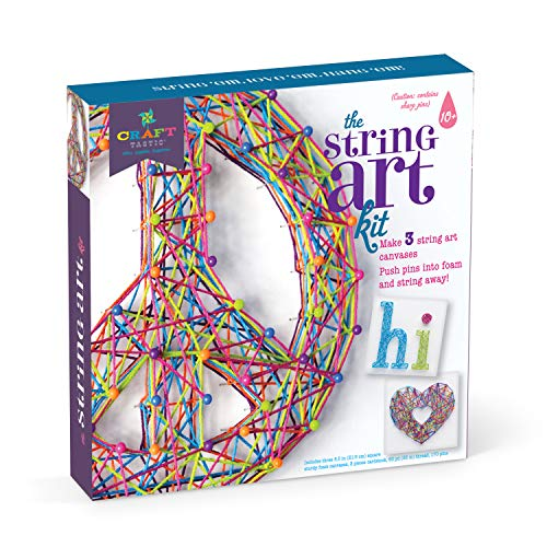 Craft Tastic Peace Sign String Art Kit Arts And Crafts