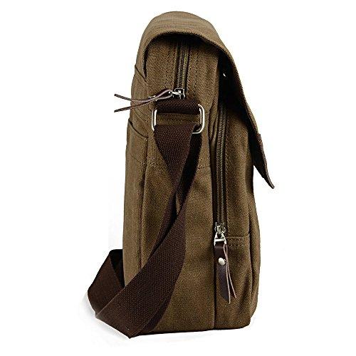 Zebella Vintage Mens Small Canvas Messenger Bag Ipad Shoulder Working Bag