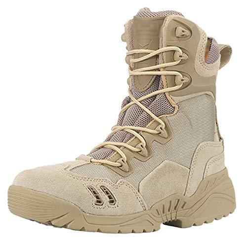 Da Escursione Pattuglia Uomo Tactical Top Military Combattimento Da Stivali Caccia Terra Da High Antiscivolo Sandcolor Outdoor Da Boots Desert FvwZxq6w