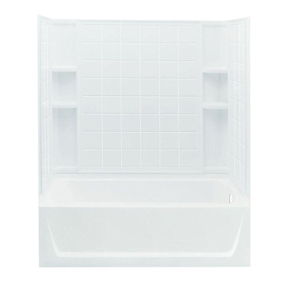 STERLING 71120120-0 Ensemble Bath and Shower Kit, 60-Inch x 32-Inch ...