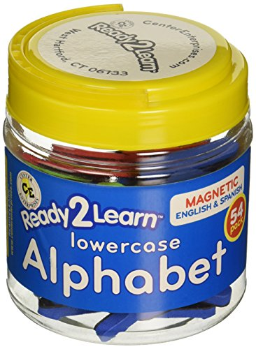 - Center Enterprise CE6908 READY2LEARN Lowercase English/Spanish Magnetic Alphabets (Pack of 54)