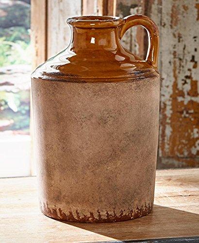 (Rustic Ceramic Pottery Vase, Barrel)