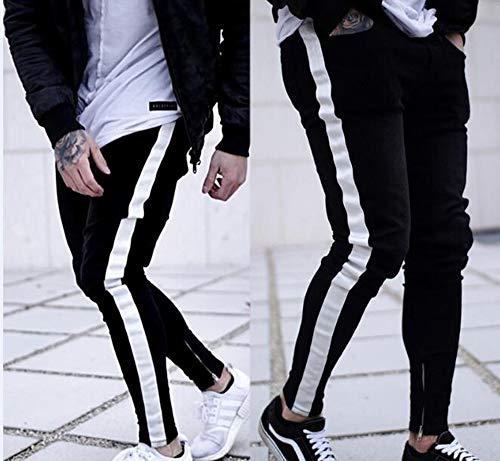 Pantalones de Mezclilla para Hombres Pantalones de Mezclilla Slim fit Ajustables Jeans para Hombres Pantalones de Mezclilla Strechable Negros para Hombres S-3XL Negro